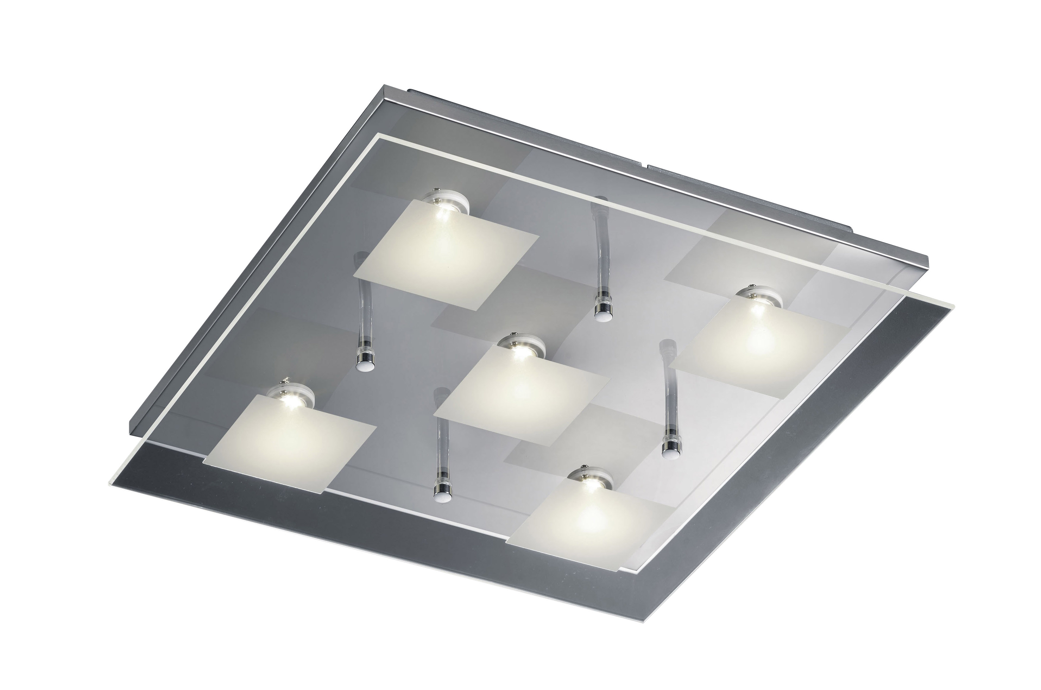 Square led glass ceiling light leyton lighting square led glass ceiling light aloadofball