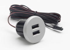 Recessed USB 5 Watt 2 Port Charger WUSB-S