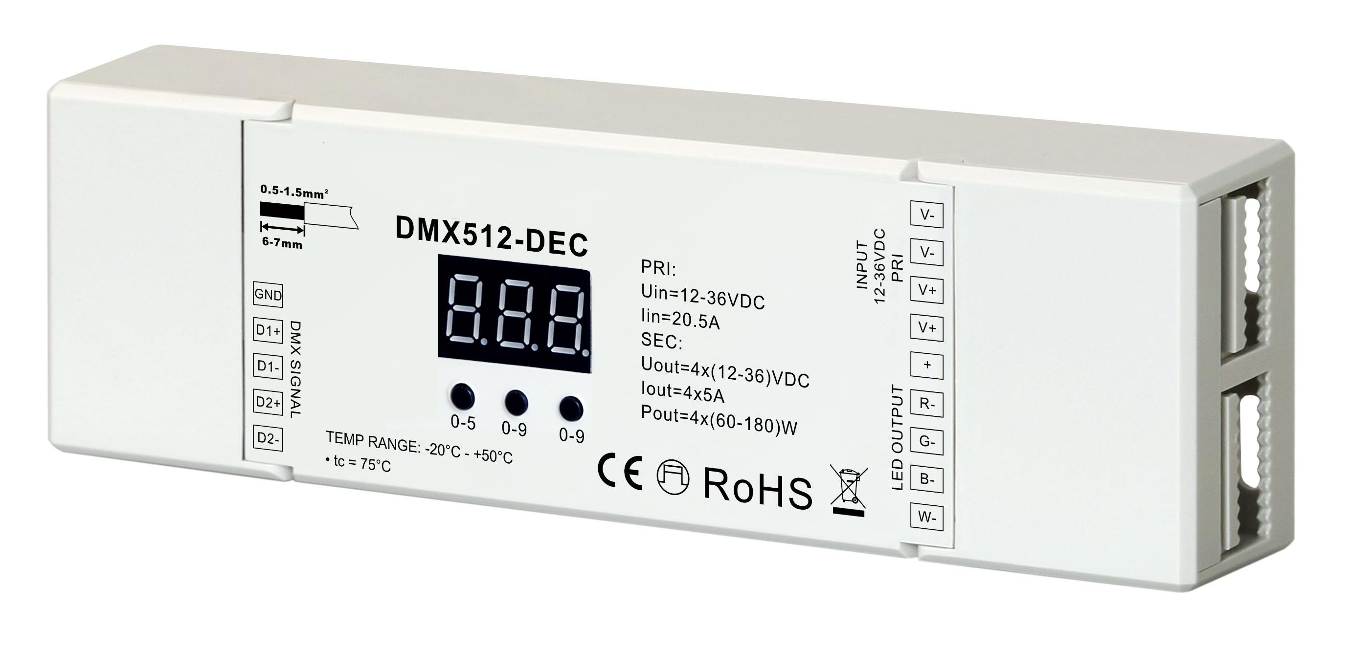 DMX512 Decoder - Leyton Lighting
