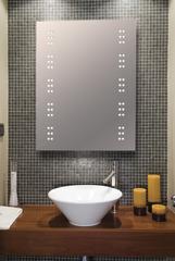 IP44 Bathroom Mirror with 2 x 30 LEDs