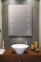 IP44 Bathroom Mirror with 2 x 30 LEDs
