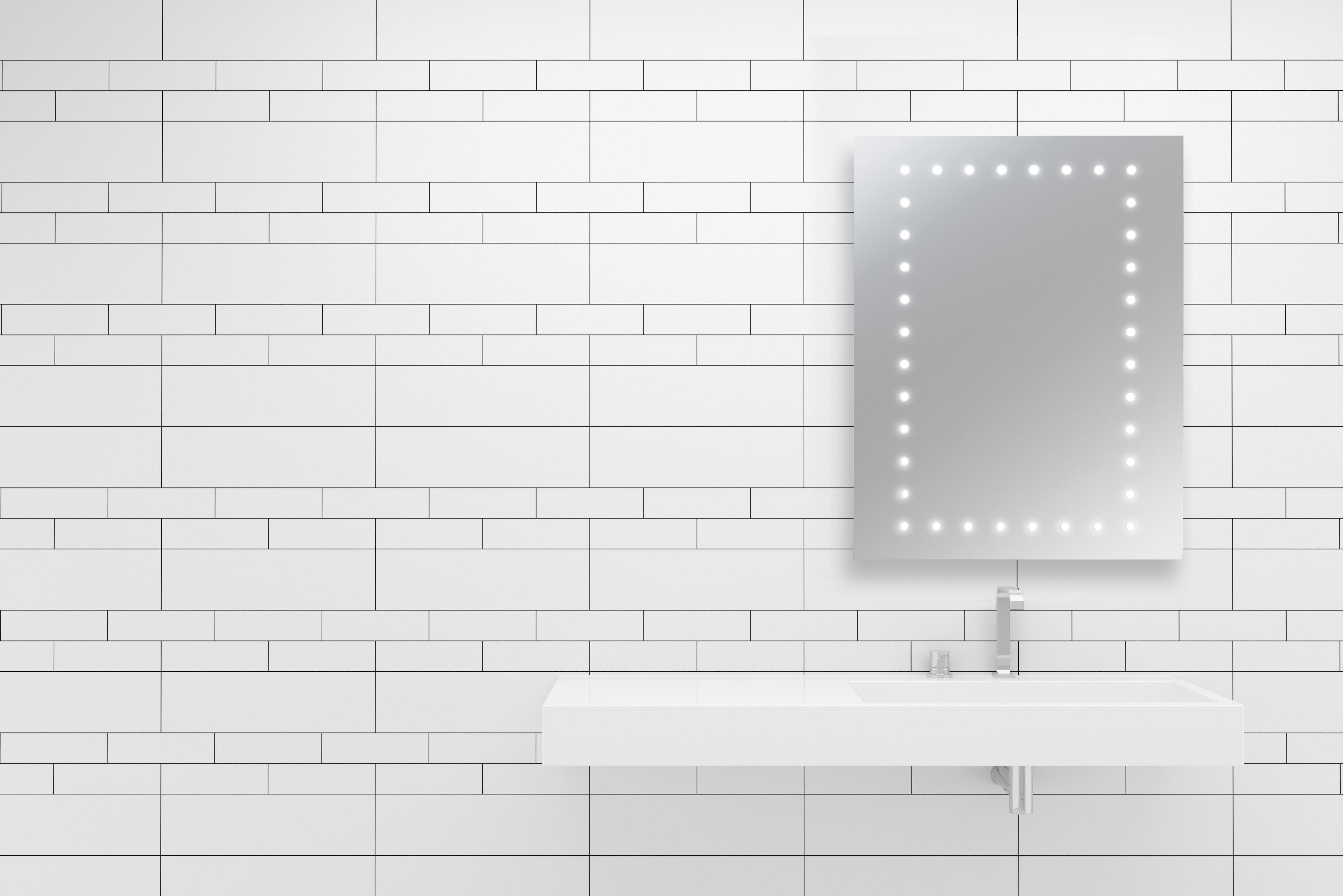 Bathroom Mirror Java ip44 bathroom mirror with perimeter leds - leyton lighting